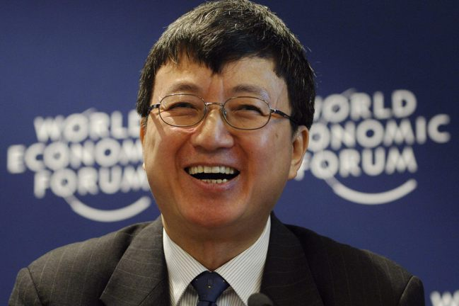 IMF前副總裁朱民把一生的成就起點,歸功於「老師的人格魅力」。圖/法新社