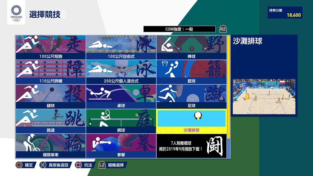 遊戲中總共收錄了 18 項比賽項目供玩家遊玩,目前僅有 14 項,另外 4 項將...