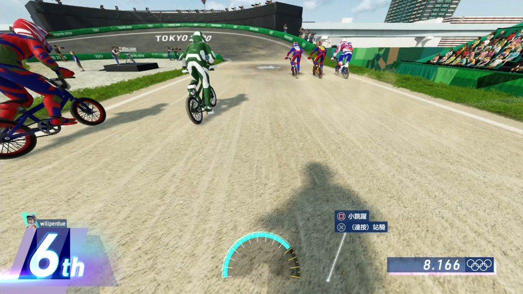 遊戲中也可以切換視點,改為第一人稱的角度來比賽,更顯得有臨場感。