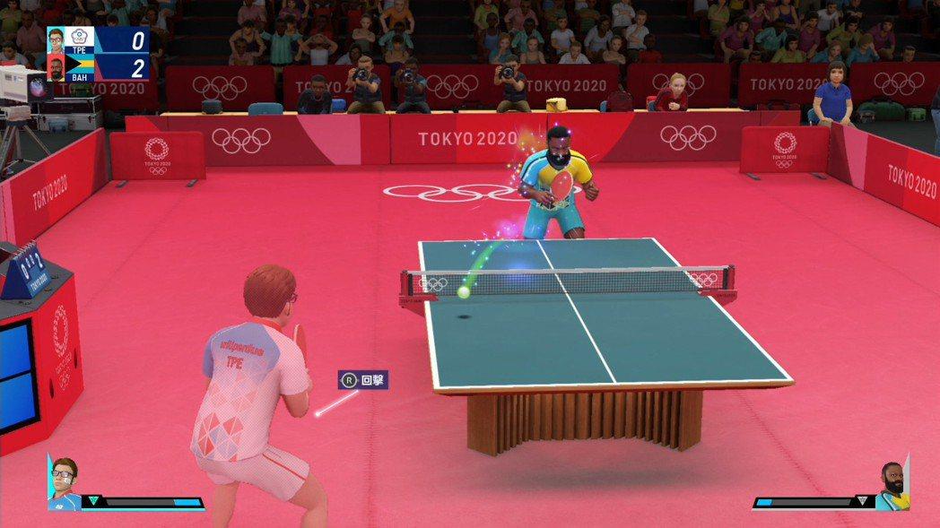 桌球打起來彷彿就像是在看電視比賽般逼真。仔細看球的顏色,那代表的是球的旋轉方向,...