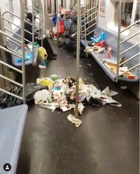 紐約地鐵。 圖片來源/boyboi_tru_shine IG影片截圖