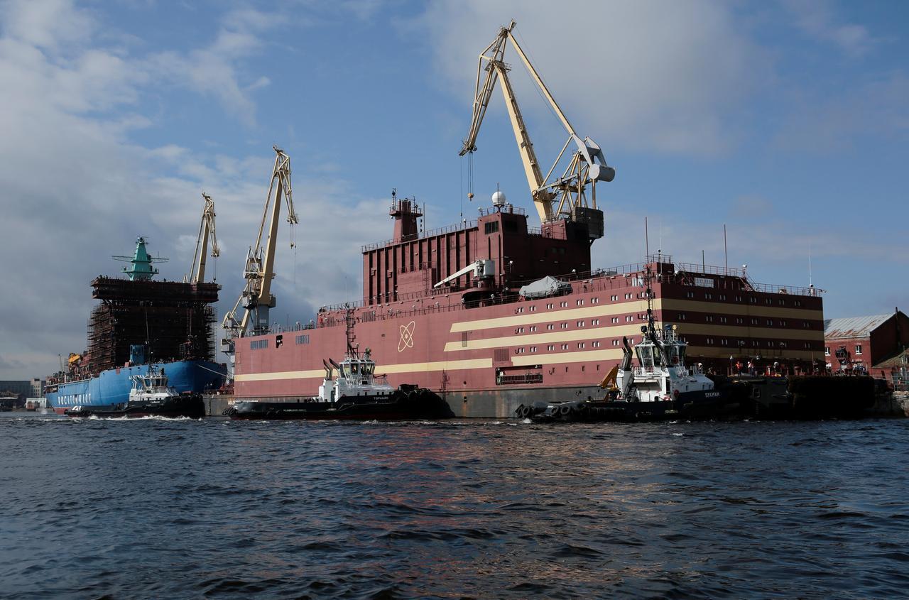 俄羅斯浮動式海上核能發電平台「羅蒙諾索夫院士號」。路透