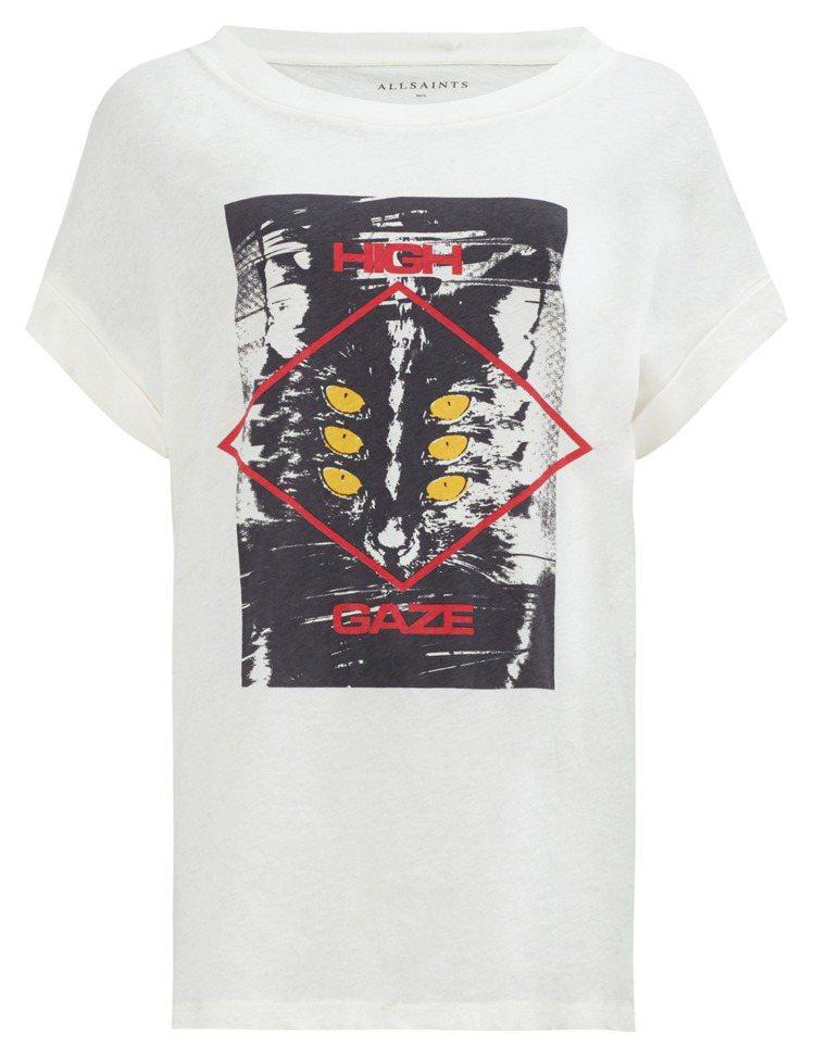 AllSaints High Gaze Imogen印花T恤,2,000元。圖/...