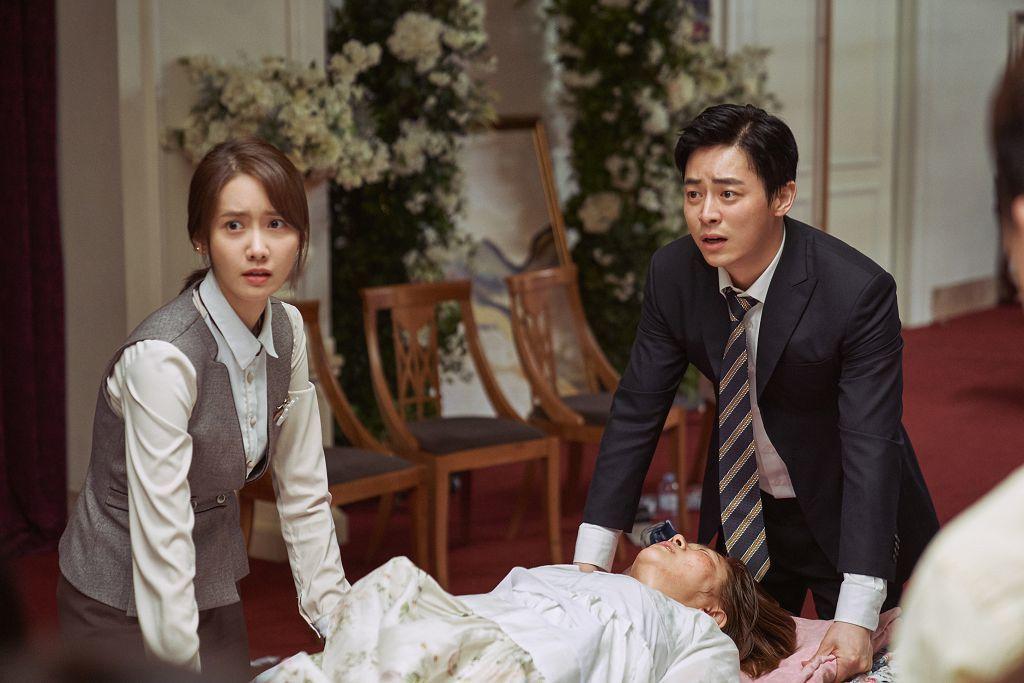 曹政奭、潤娥主演的動作災難喜劇「極限逃生」30日上映。圖/車庫娛樂提供