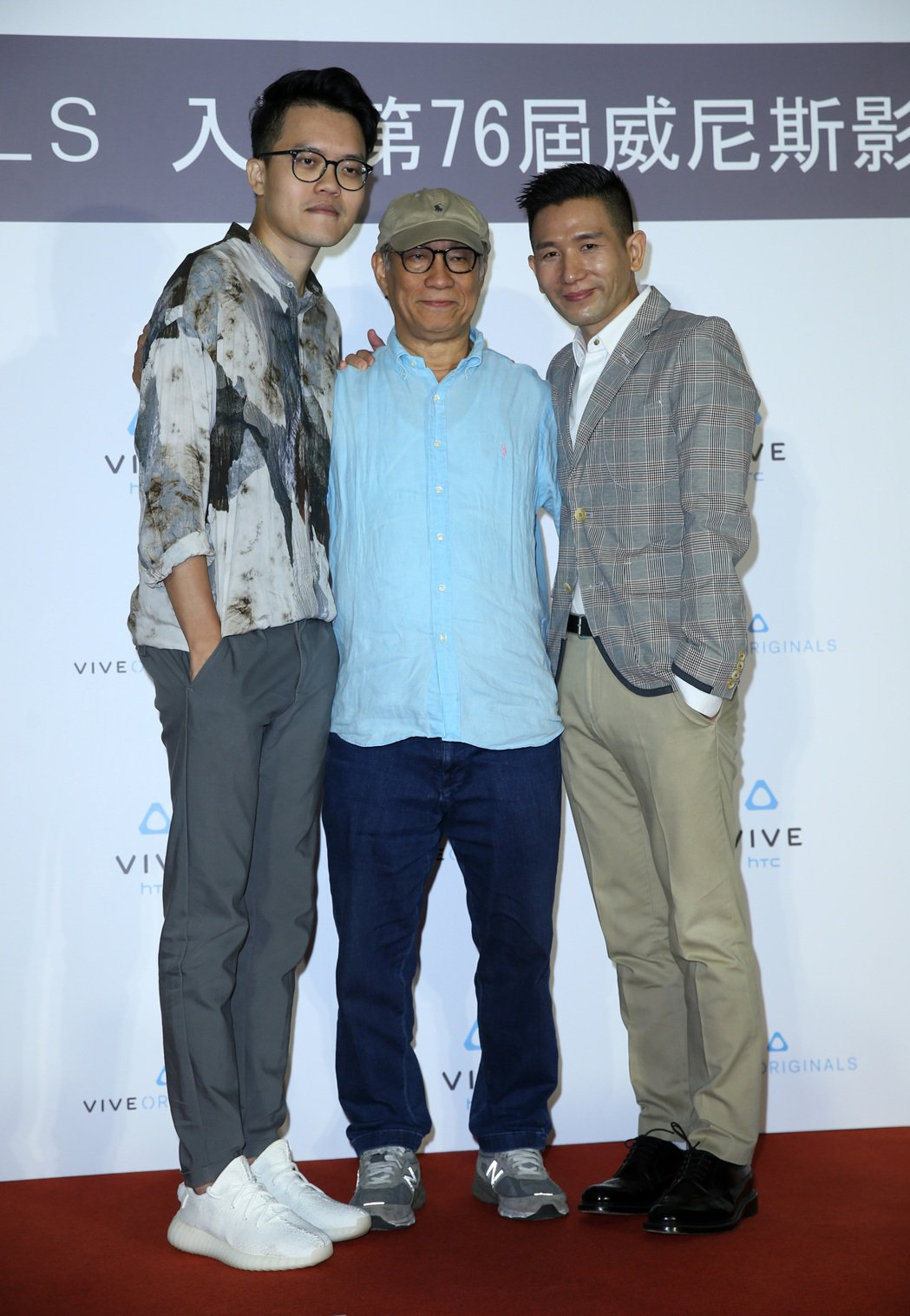 HTC威尼斯影展慶功記者會,曾威量(左起)、廖慶松、趙德胤出席。記者曾吉松/攝影