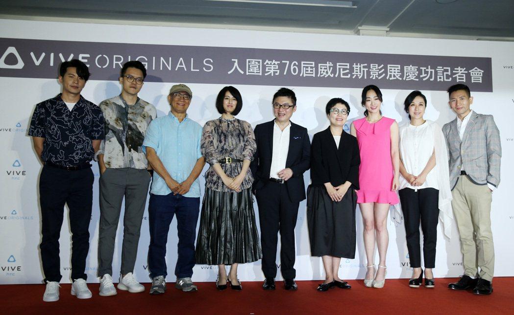 HTC威尼斯影展慶功記者會,姚淳耀(左起)、曾威量、廖慶松、小松美羽、劉思銘、文