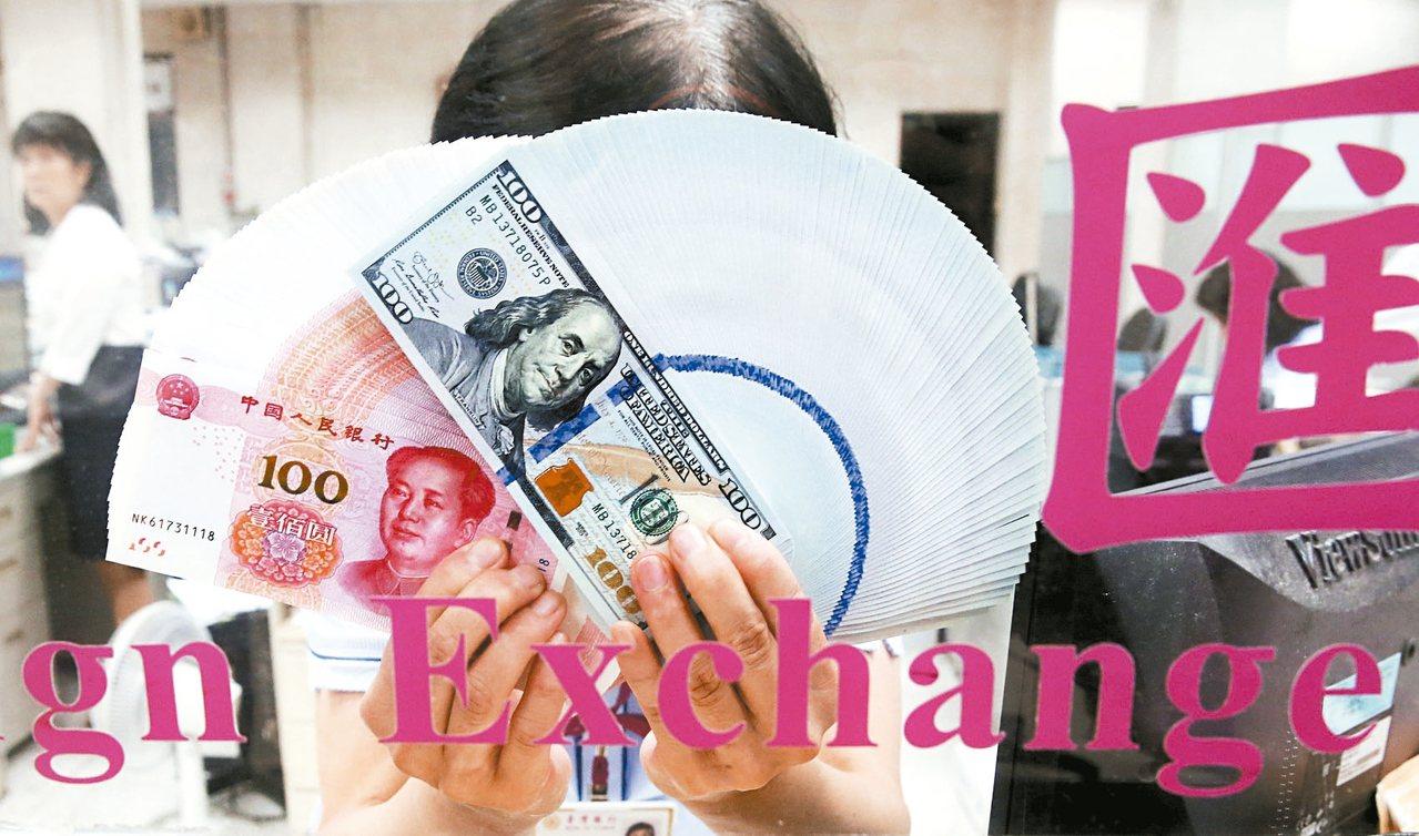 中美貿易大戰,人民幣兌美元重貶創近年新低。 記者林俊良/攝影