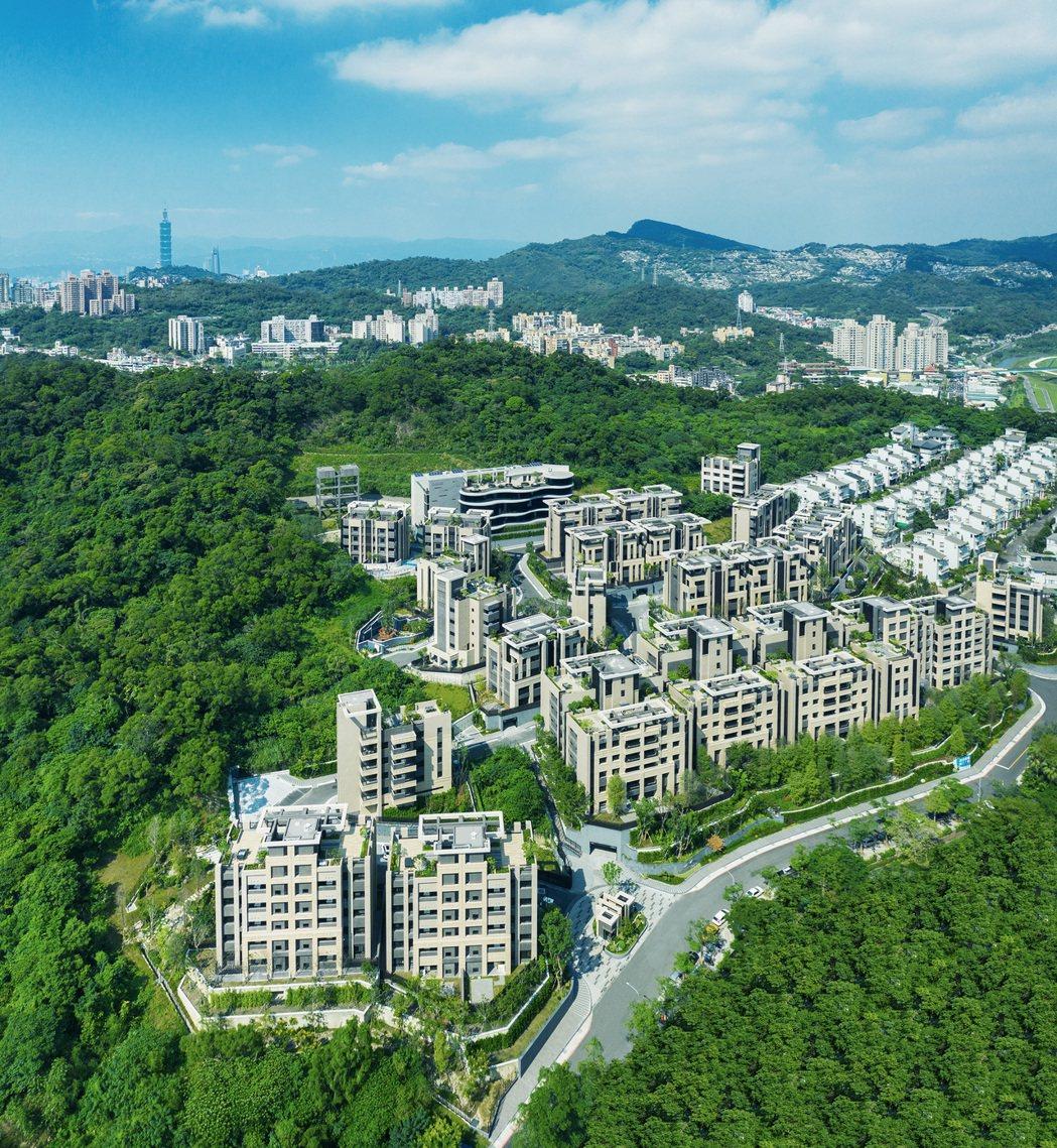 「冠德微山丘」為可遇不可求萬坪理想家園。圖/冠德建設提供