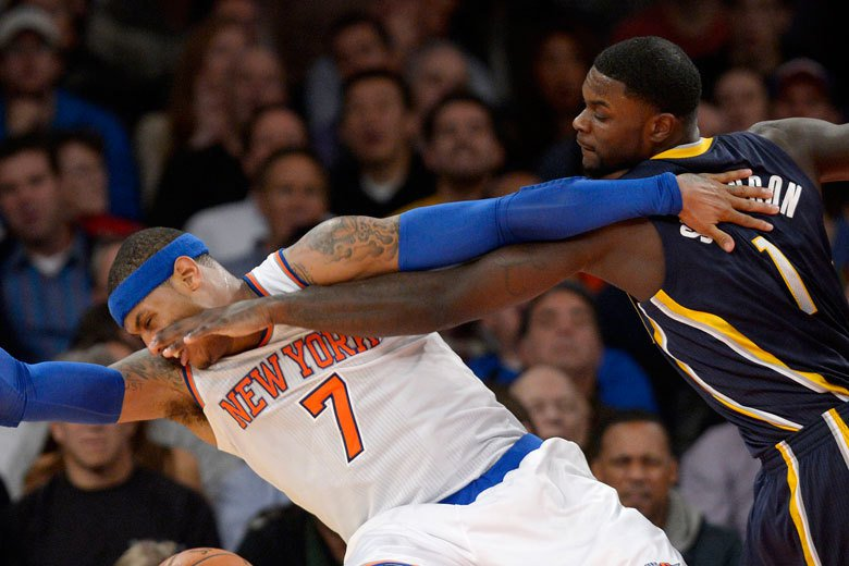 史帝文森(右):「吃我一拳!甜瓜醒醒吧,NBA沒球可打了,跟著我去CBA賺人民幣...