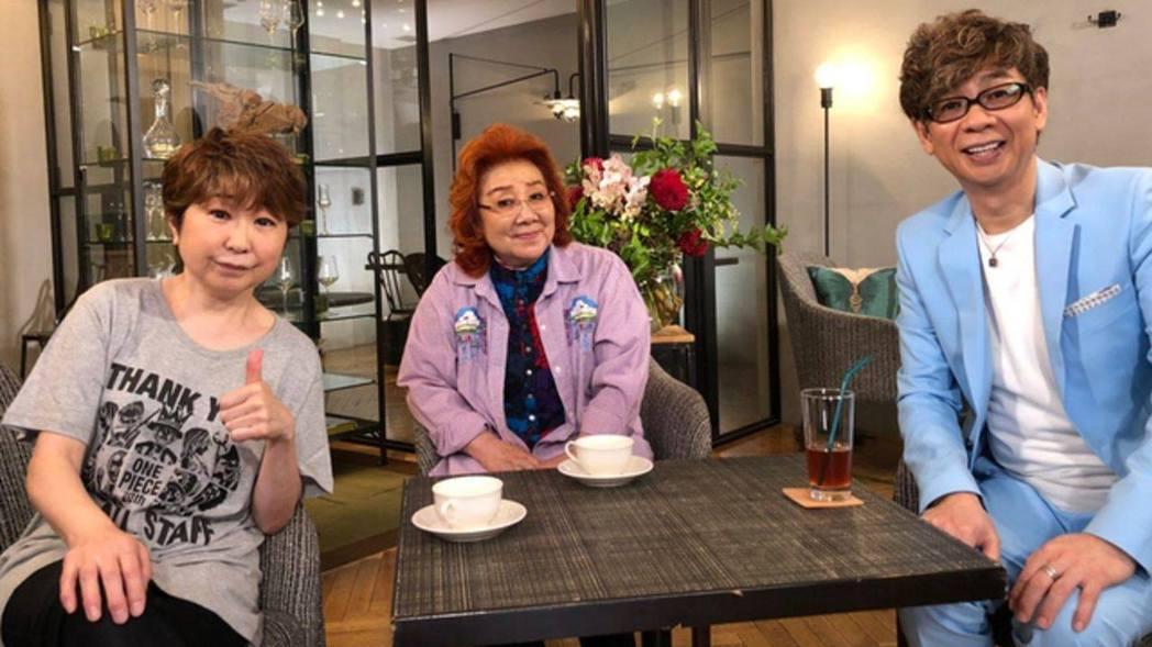 左起:田中真弓、野澤雅子、山寺宏一三人一同參加富士電視節目《ボクらの時代》錄影/...