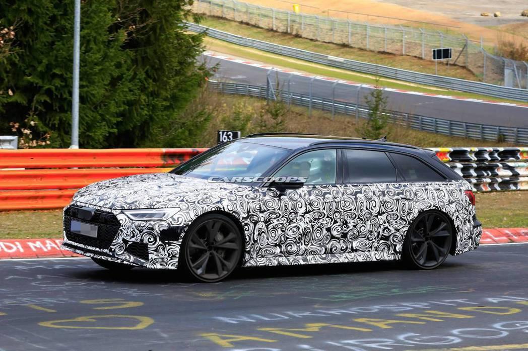 Audi RS6 Avant偽裝車。 摘自carscoops