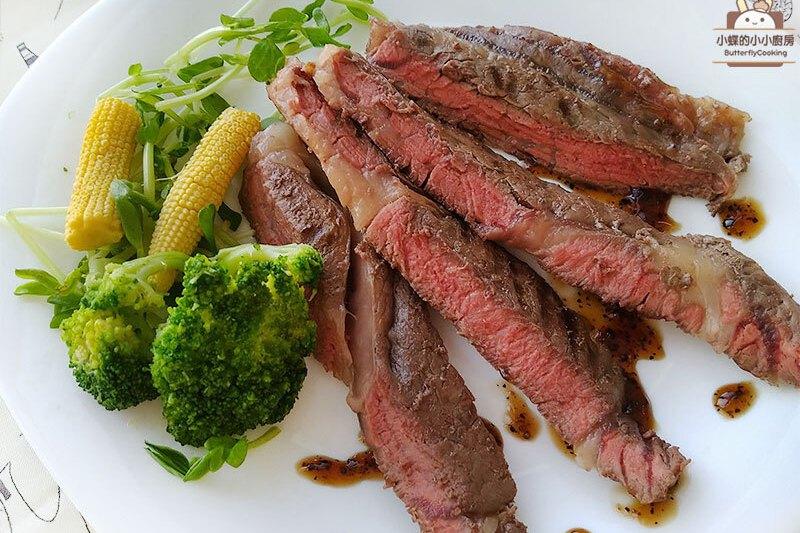 食譜/嫩煎沙朗牛排(低醣排餐)