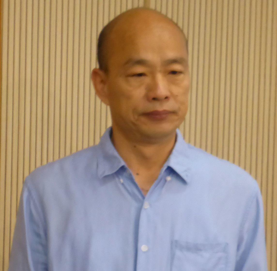 高雄市長韓國瑜今天表示,如果蔡總統用的官員都是吃台灣人的肉、喝台灣人的血,嘴巴講...