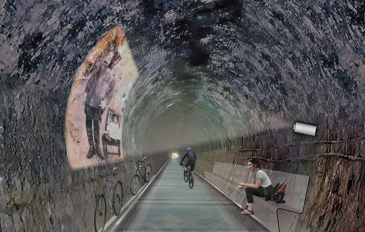 新工處表示,三貂嶺自行車道工程將採兩階段進行,第1階段目前已開工,興建自行車休憩...
