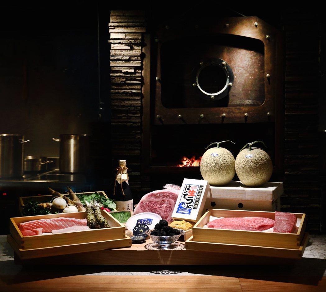 樂軒和牛割烹嚴選日本A5和牛,各國及在地頂級食材。晶華/提供