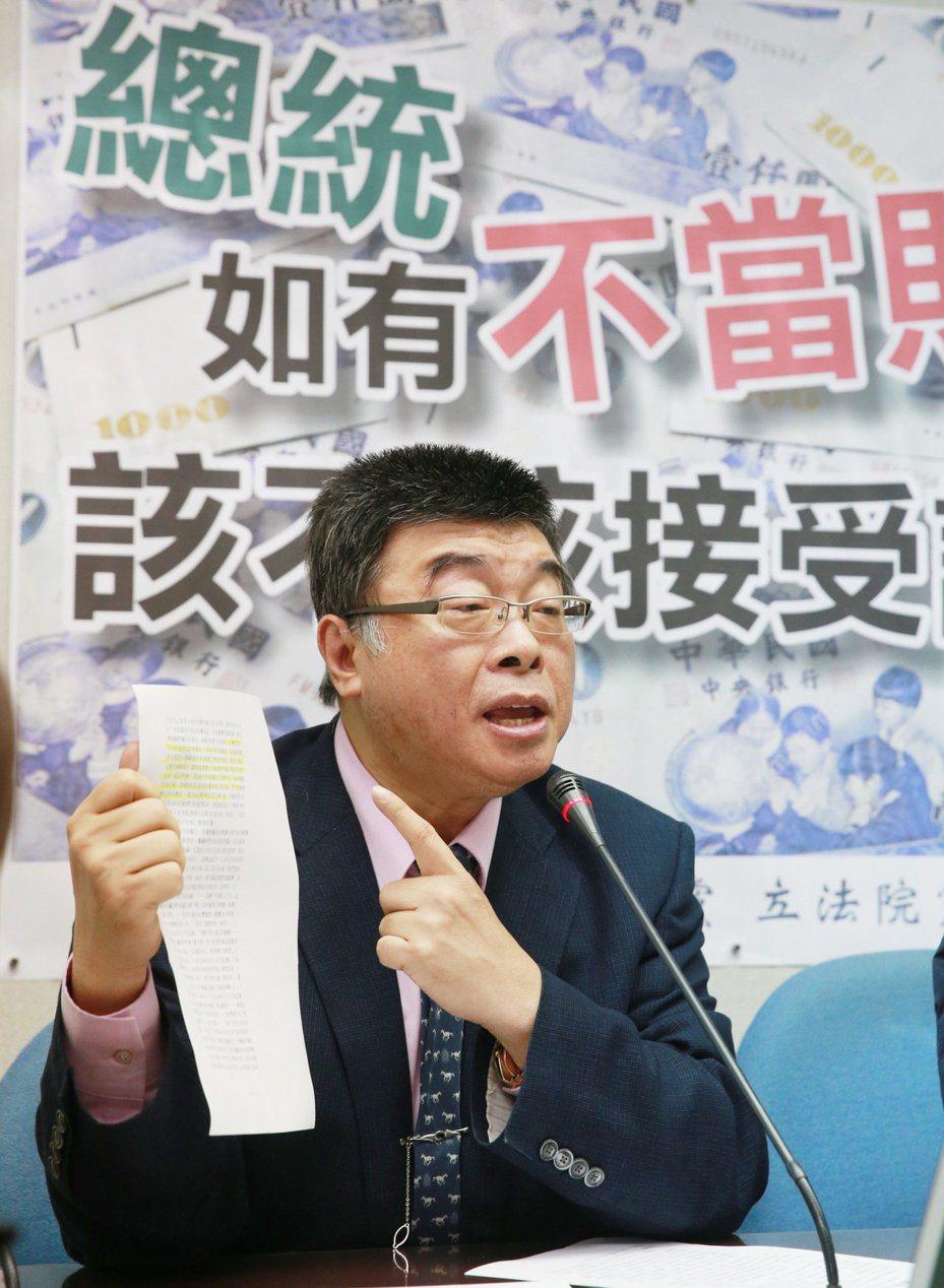國民黨前立委邱毅。本報資料照片