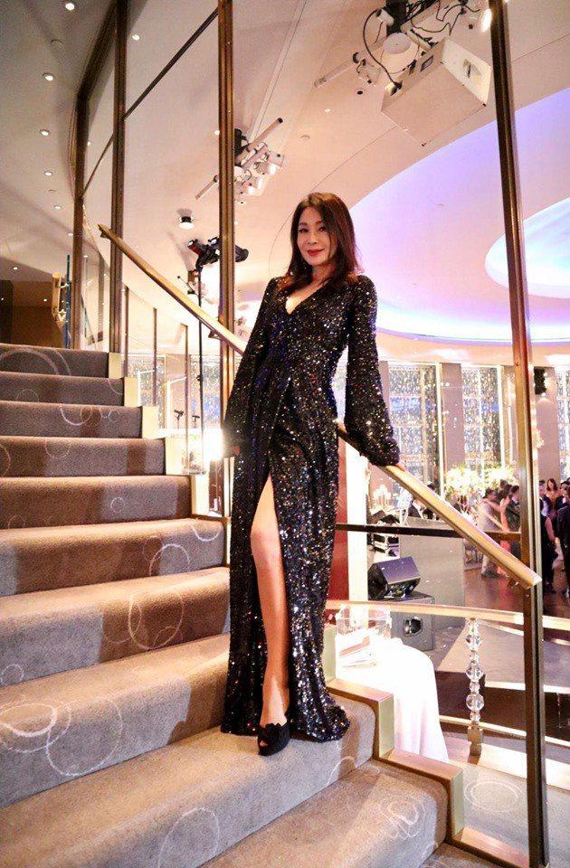 陳美鳳到紐約參加婚禮。圖/摘自臉書