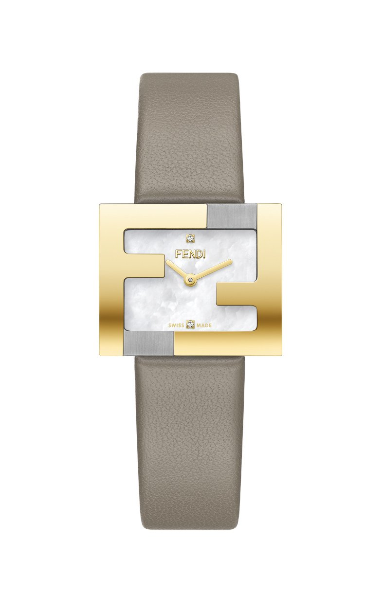 Fendi Fendimania腕表,18K金PVD不鏽鋼表殼,搭配珍珠母貝表盤...