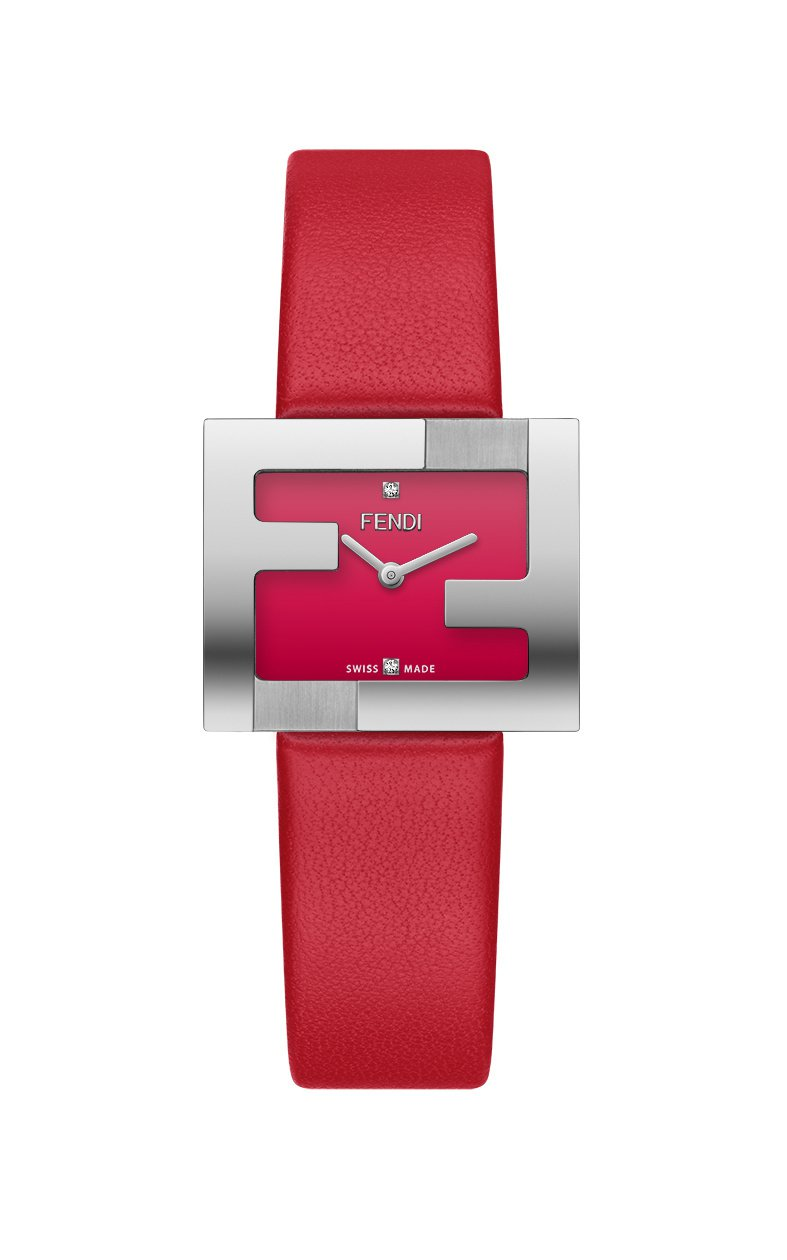 Fendi Fendimania腕表,不鏽鋼表殼,約35,500元。圖/Fend...