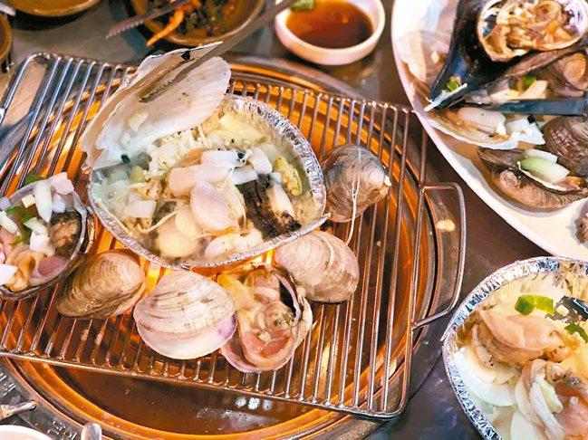 遊釜山新鮮海鮮吃不完。 記者張芳瑜/攝影