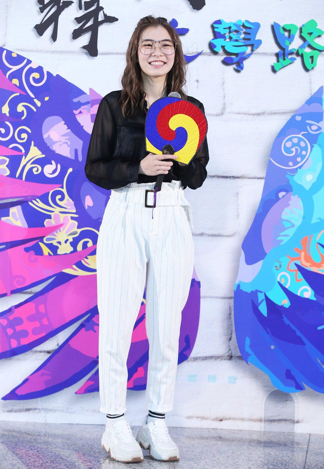 羅小白出席2019韓國公演慶典《下一站 藝起去韓國大學路》造勢記者會,並在會中即...