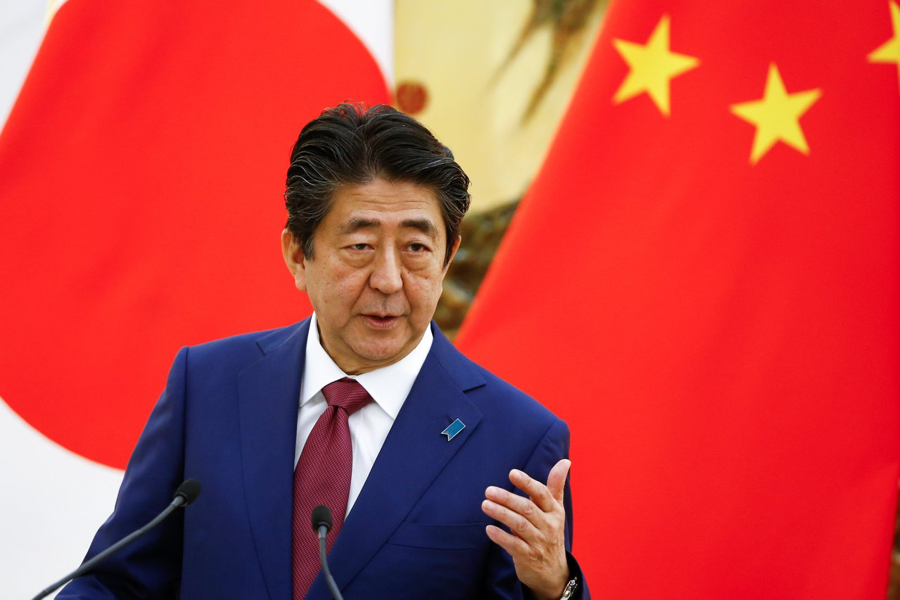 日本首相安倍晉三。(路透)