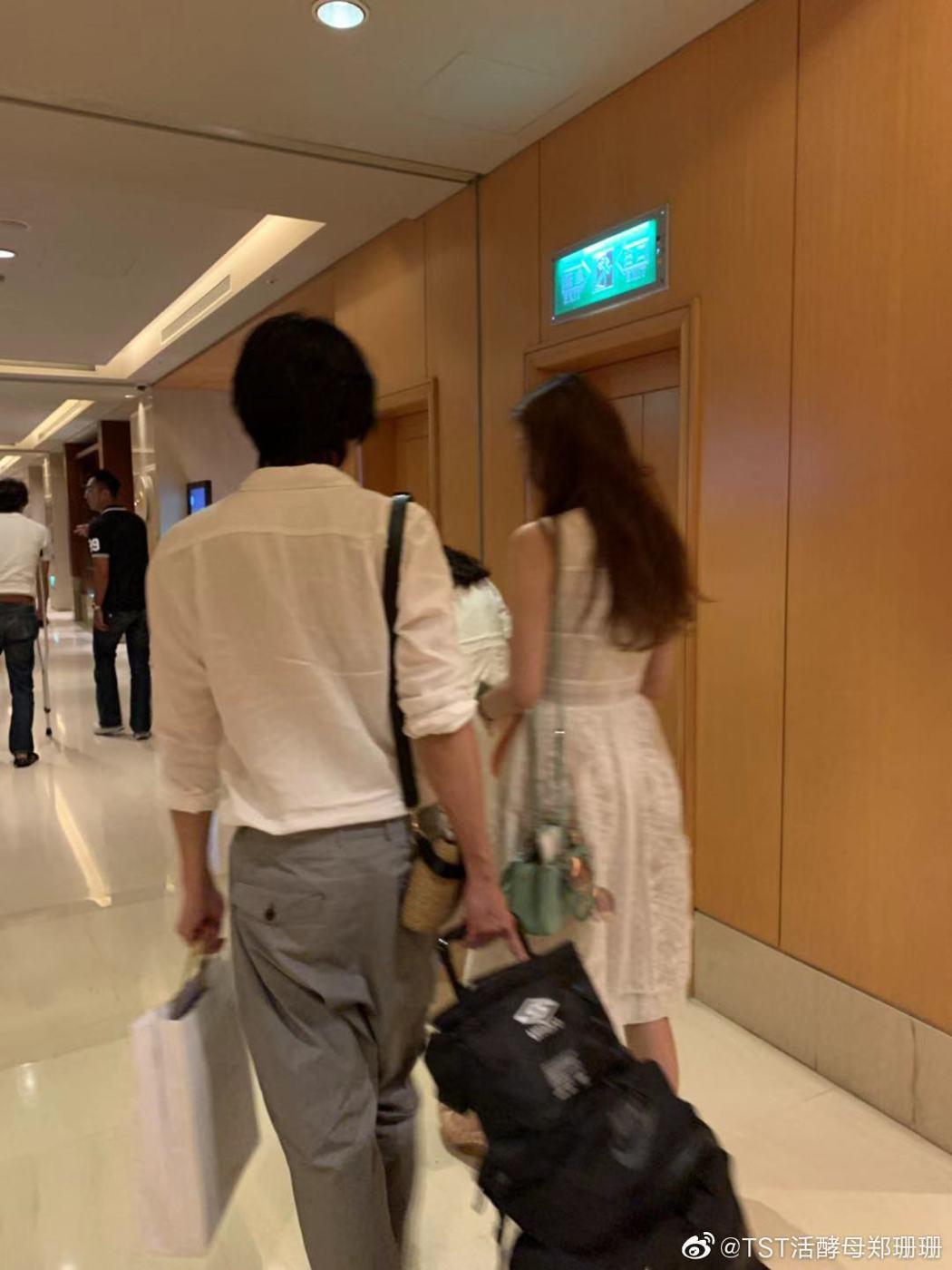 網友在飯店巧遇林志玲。 圖/擷自微博