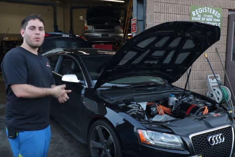 是時候把引擎丟掉了?Audi S5裝上特斯拉Model S的動力總成還真的有戲!