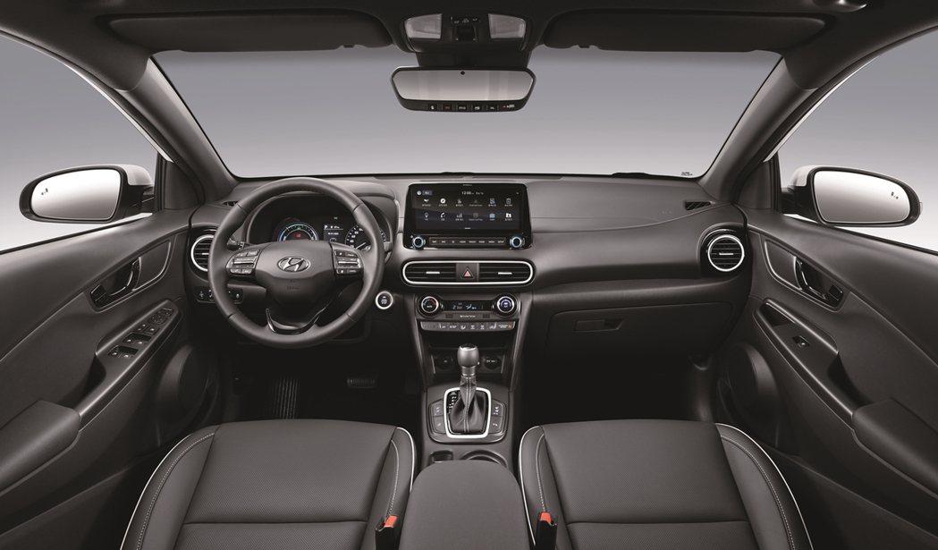全新Hyundai Kona Hybrid 車室。 摘自Hyundai