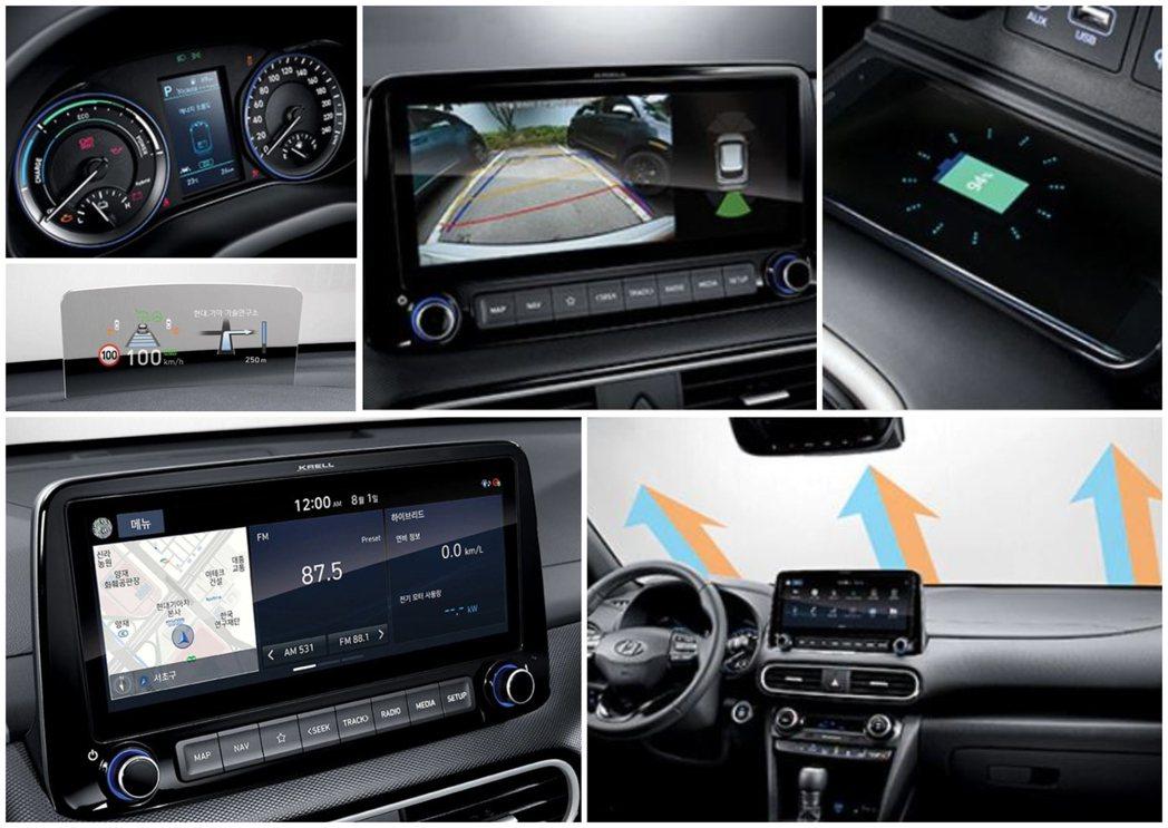 Hyundai Kona Hybrid使用全新10.25吋中控觸控式螢幕。 摘自...