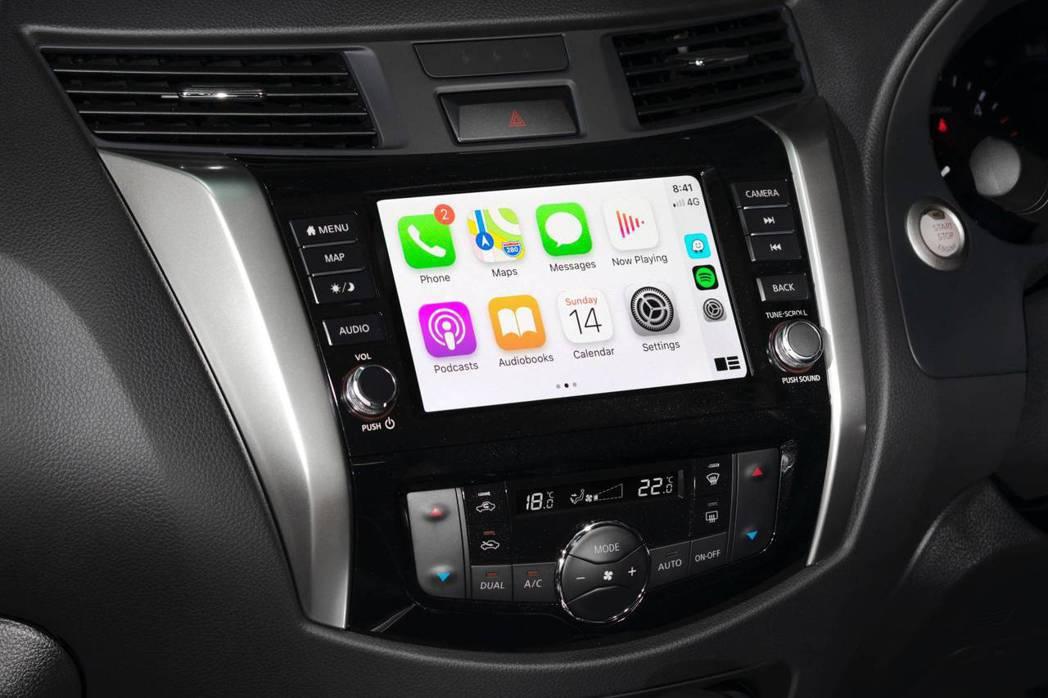 Navara N-Trek全新的車載系統,首次支援Apple CarPlay和A...