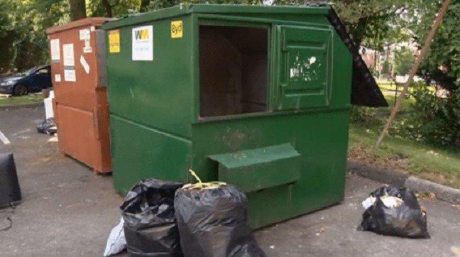 母親將4歲的兒子棄屍在垃圾箱中。圖擷自都市日報