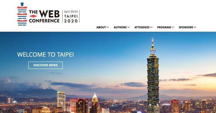 The Web Conference 2020 官網截圖