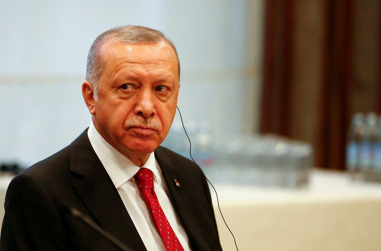 土耳其總統厄多安。路透