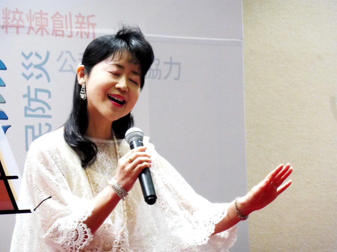 日本福音歌手森祐理。記者賴于榛/攝影