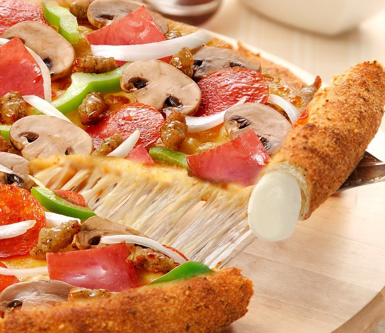 達美樂經典的芝心系列餅皮。圖/達美樂提供