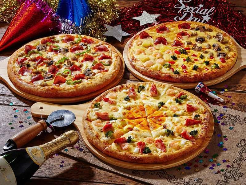 台灣達美樂8月9日起將祭出史上最優惠「三個大比薩799元」。圖/達美樂提供