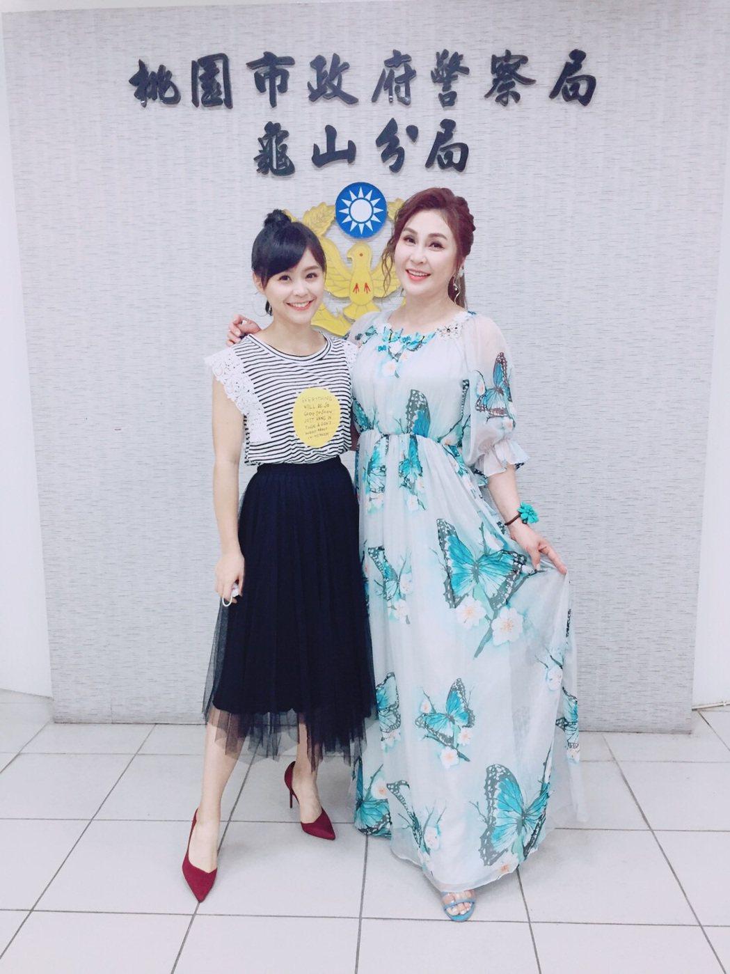 梁佑南和女兒方琦出席公益活動。圖/民視提供