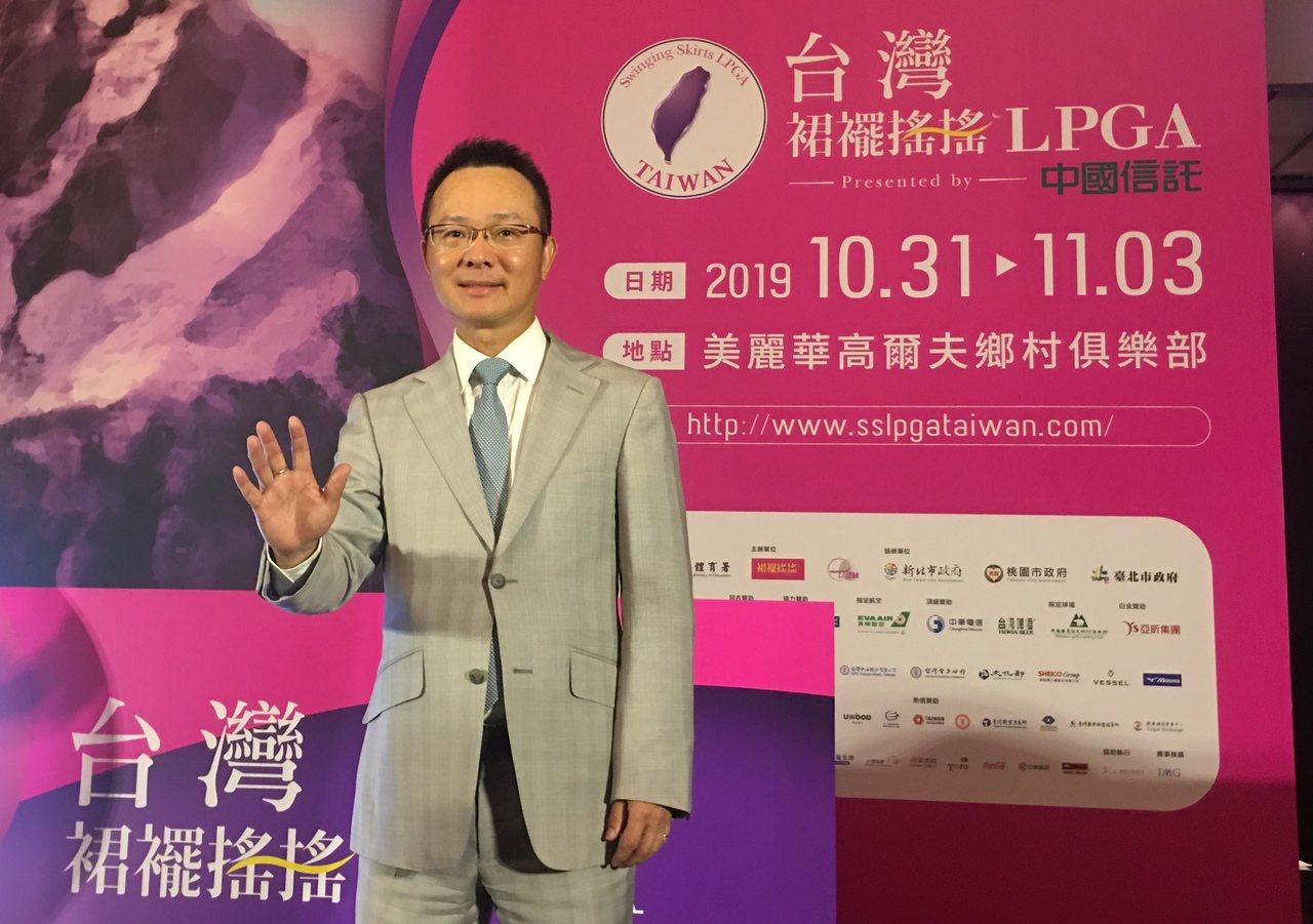 去年上任第11屆中華高爾夫協會理事長,王政松就積極推動台灣高球發展。 聯合報系資...