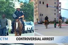 影/蓄奴嗎?騎馬用繩索押解嫌犯 德州警方道歉了!