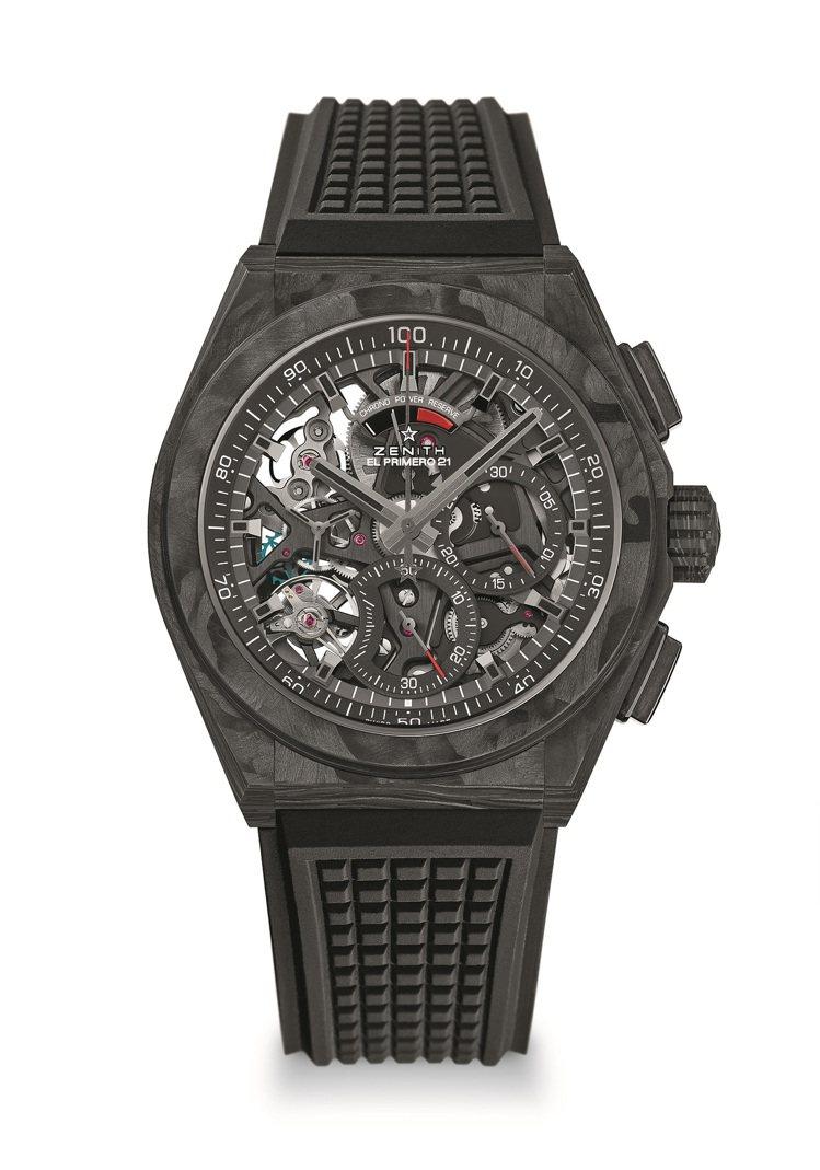 真力時DEFY El Primero 21計時碼表,碳纖維表殼,約61萬元。圖/...