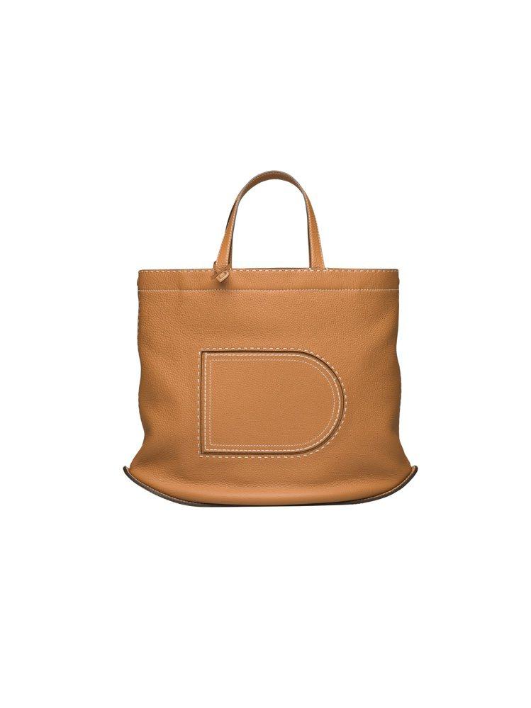 Pin茶色Cabas大型肩背包,售價11萬7,900元。圖/DELVAUX提供