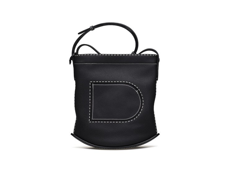 Pin黑色Daily肩背包,售價79,900元。圖/DELVAUX提供