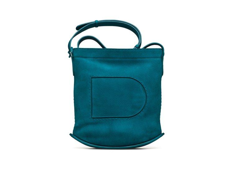 Pin珠光孔雀綠Daily肩背包,各售88,300元。圖/DELVAUX提供
