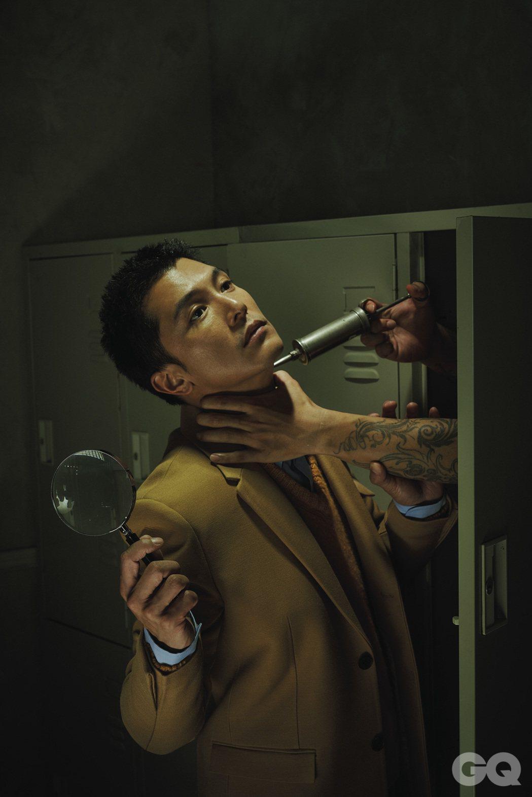 邱澤在下半年兩部新戲一部演黑道、一部演警察。圖/GQ提供
