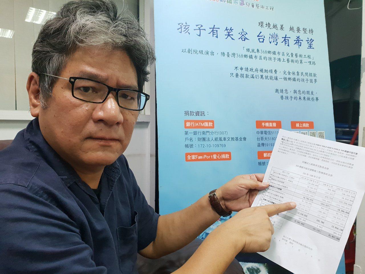 紙風車執行長李永豐召開記者會表示要提告葉慶元。記者陳宛茜/攝影