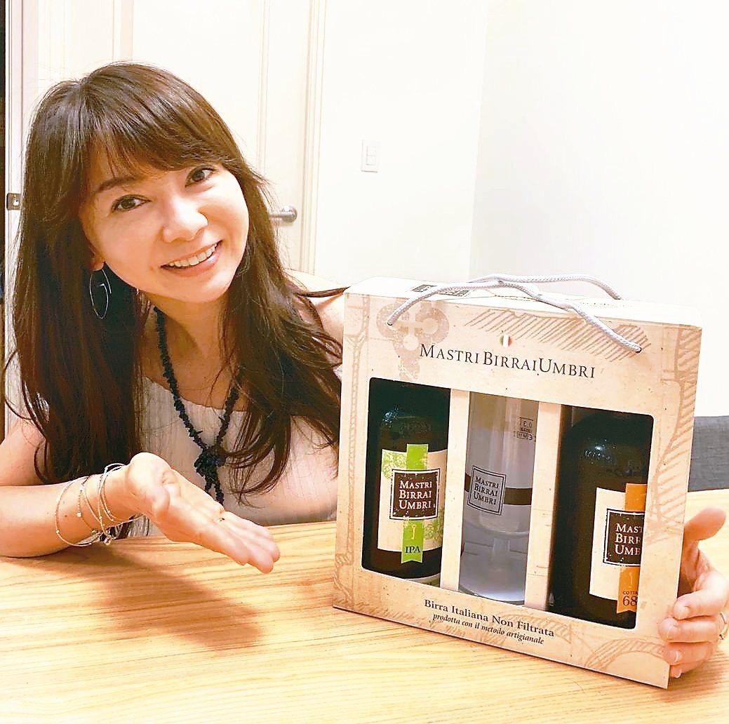 MBU精釀啤酒750ml兩入搭原裝品牌酒杯禮盒限量上市。 項家麟/攝影