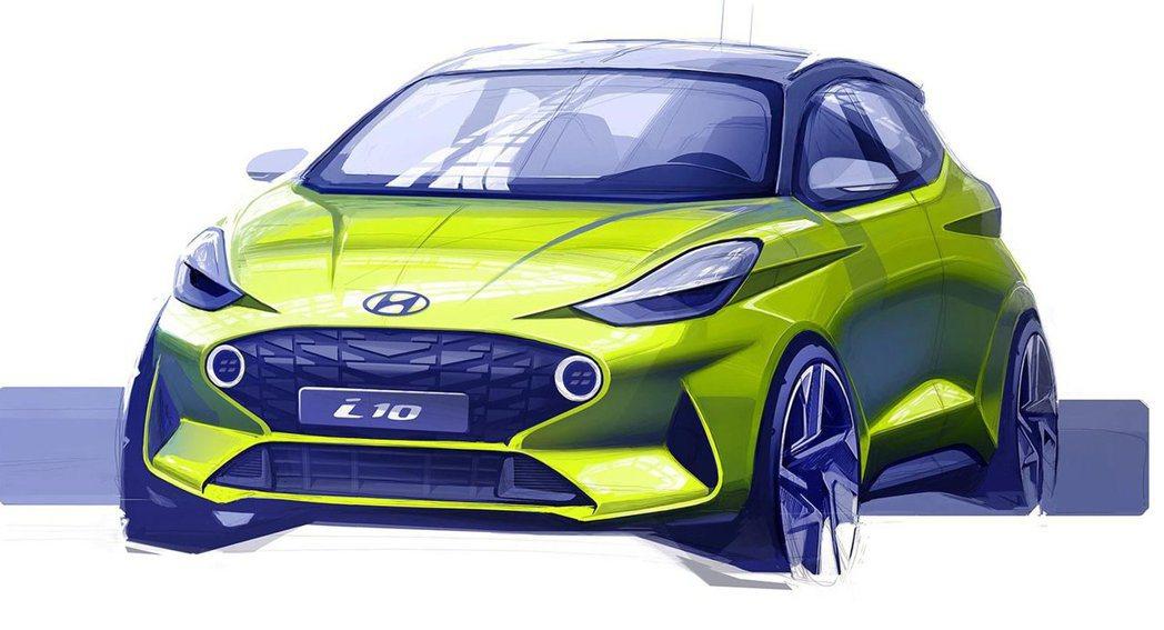 第三代Hyundai i10首張設計草圖。 摘自Hyundai