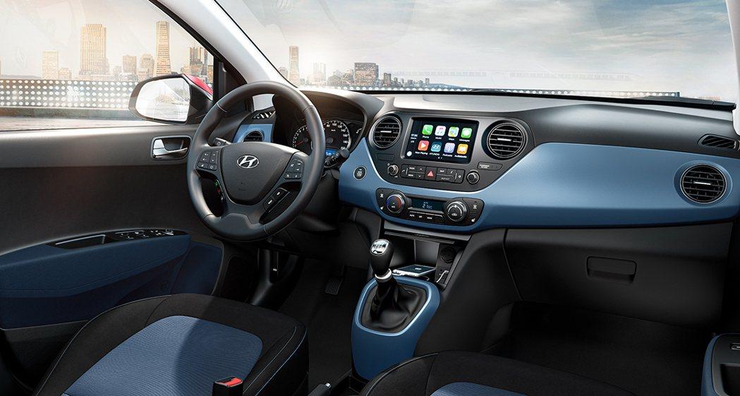 現行版Hyundai i10內裝。 摘自Hyundai