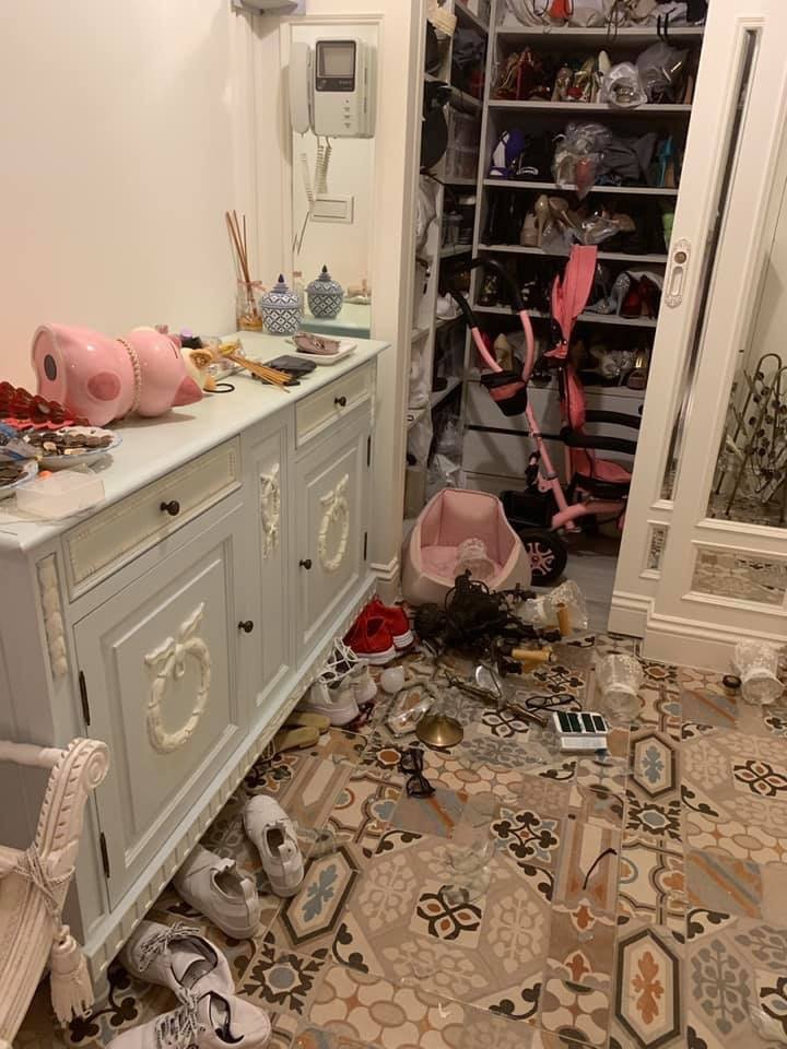 伊能靜被地震嚇醒。圖/摘自臉書